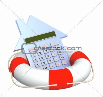 Calculator and lifebuoy