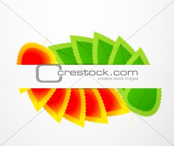 Abstract leaf illustration
