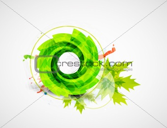 Abstract leaf illustration