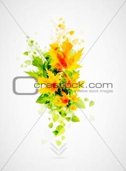 Abstract leaf design