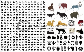 Collection of silhouettes of animals2