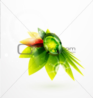 Abstract leaf design