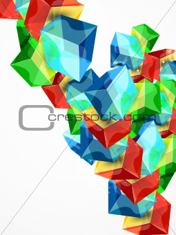 Abstract cube design