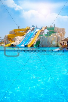 Aquapark and a pool