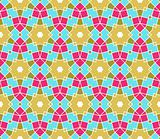 Seamless geometric pattern with stars