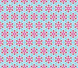Pattern (seamless) with stars and flowers