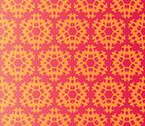 Seamless damask flowers on a red background