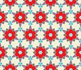 Seamless pattern with squares, lines and stars
