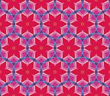 Seamless pattern with flowers, circles and geometric shapes