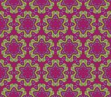 Baroque pattern with swirls on a dark purple background