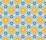 Seamless pattern with squares, lines and roses