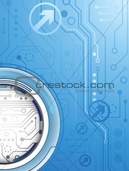 Abstract Blue Digital Background