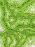 abstract topographical green map