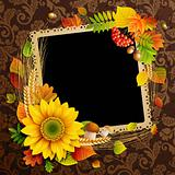 Picture on autumn background