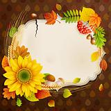 Autumn vintage greeting card