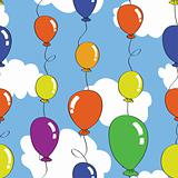 seamless balloon pattern