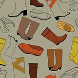 Seamless shoes gray pattern
