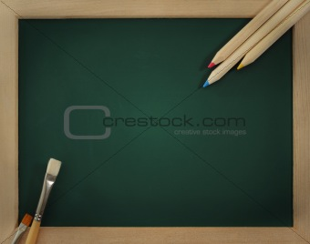 Green clear blackboard