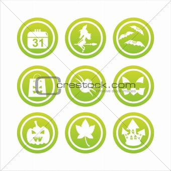 green halloween signs