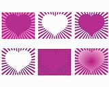 Rays heart design