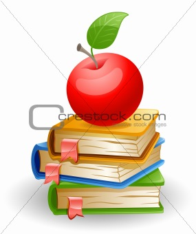 Apple and books.