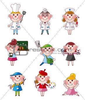 cartoon people job icons