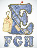 Vector jeans alphabet