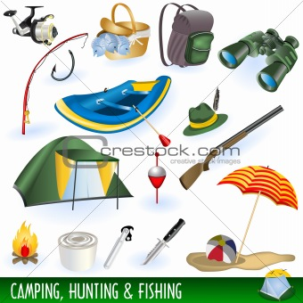 Camping, hunting and fishing