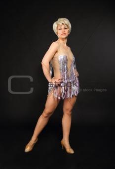 Beautiful dancing woman posing