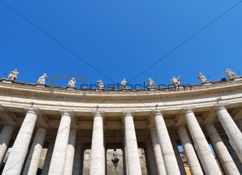 Facade of basilica of saint Peter
