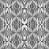 Seamless pattern in op art design. Textured background.