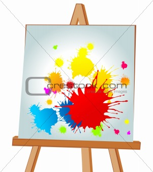 Blots on an easel