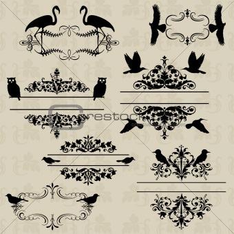 Frame of birds
