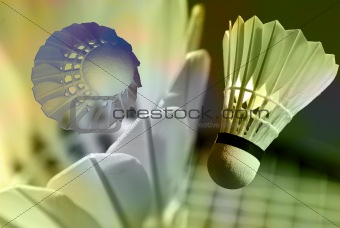 Abstract badminton