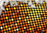 Christmas festive background with gold dots