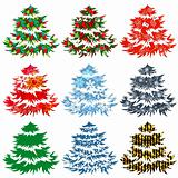 Collection of different Christmas trees