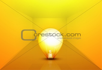 Abstract bulb illustration