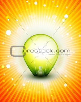 Vector bulb illustration