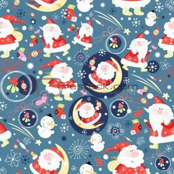 texture of Santa Clauses