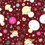 texture of fun snowman