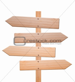 Arrow signs isolated, with clipping path.