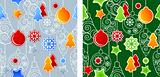 Seamless Christmas pattern with balls.