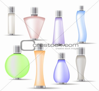 Set of fragrance bottles