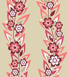 Seamless floral pattern with pink flowers