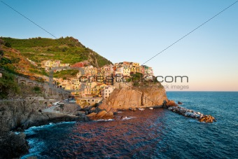 Manarola at the sunset