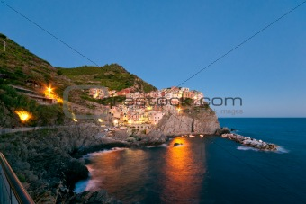 Manarola after sunset