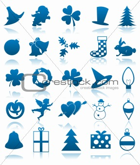 Celebratory icons