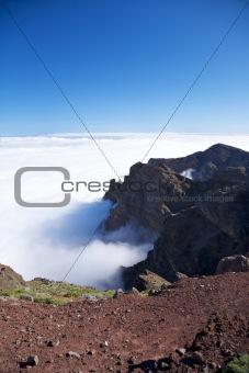 Caldera de Taburiente view at La Palma
