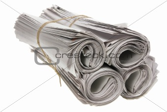 Rolls of Newspapers