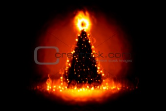 christmas on fire